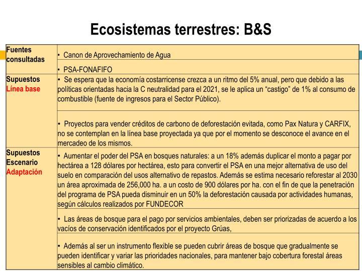 Ecosistemas terrestres: