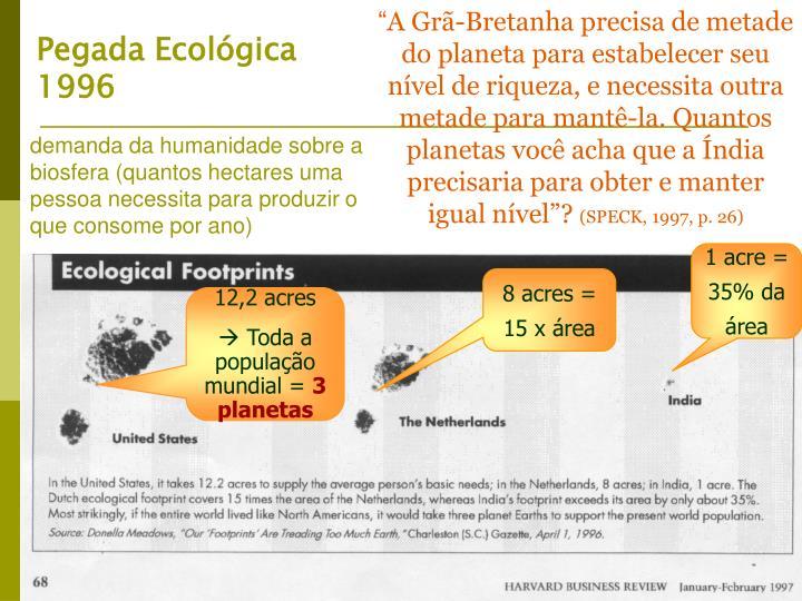 Pegada Ecológica 1996