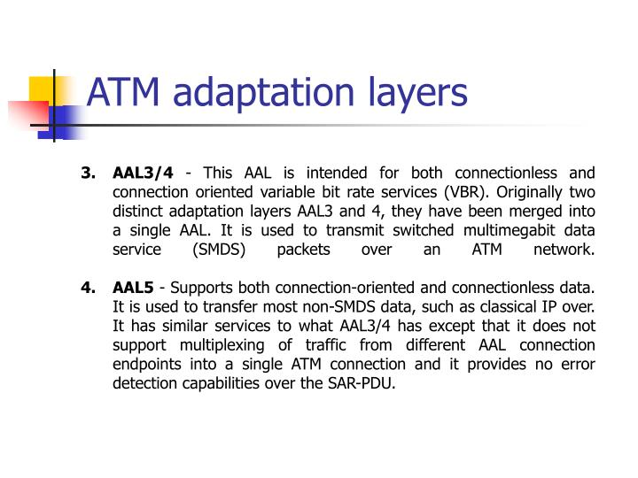 ATM adaptation layers