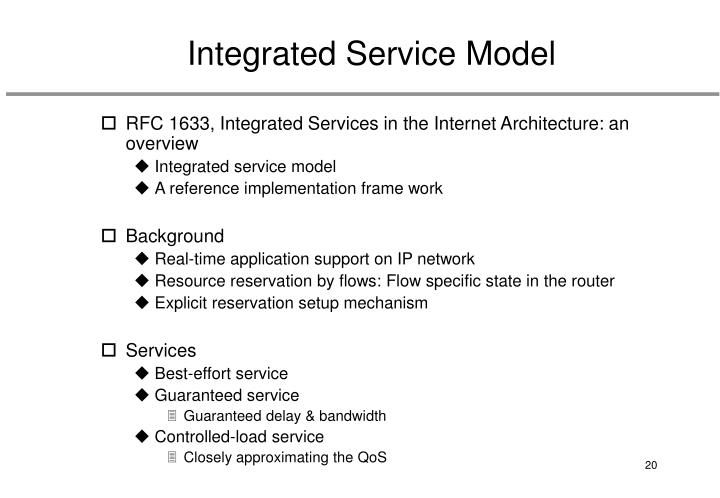 Integrated Service Model