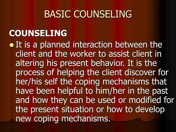 BASIC COUNSELING