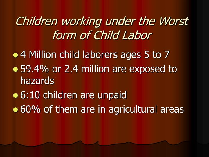 Children working under the Worst form of Child Labor