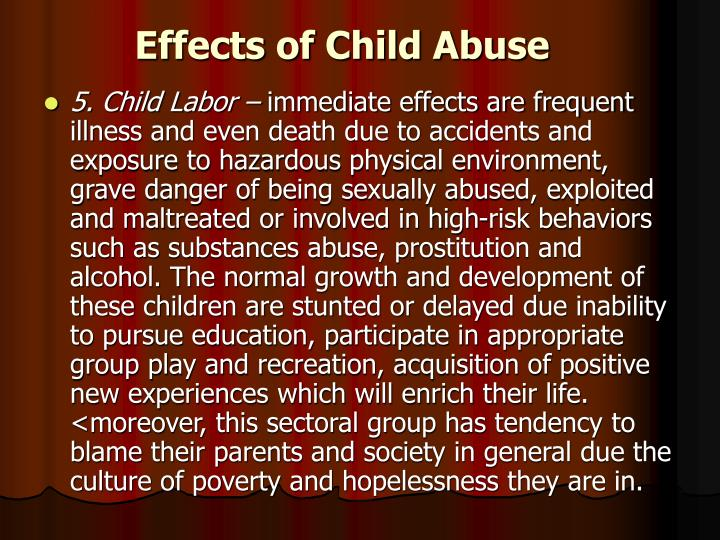 Effects of Child Abuse