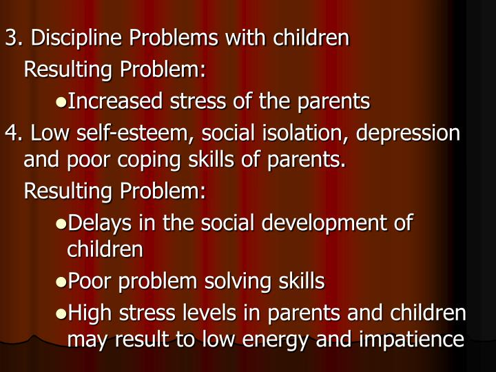 3. Discipline Problems with children