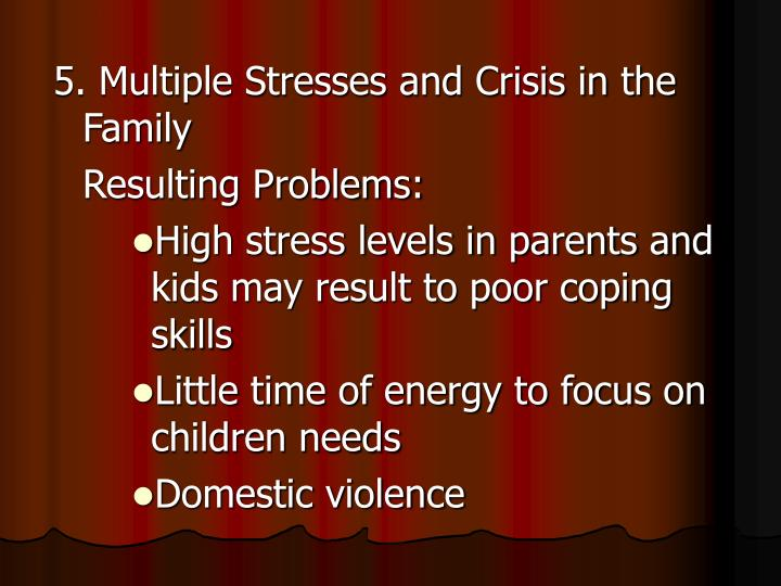 5. Multiple Stresses and Crisis in the Family