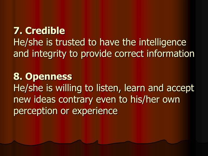 7. Credible