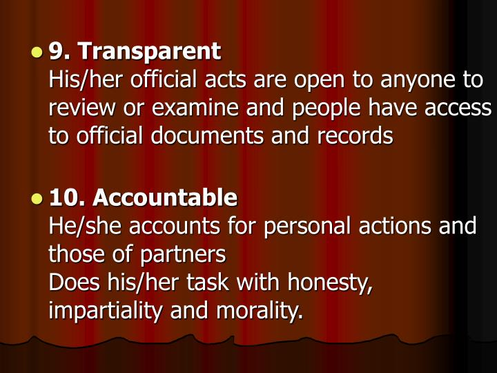 9. Transparent