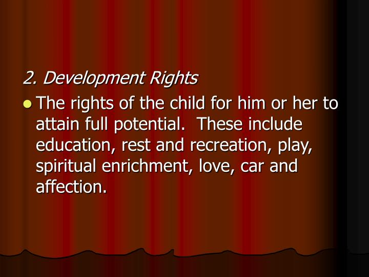 2. Development Rights