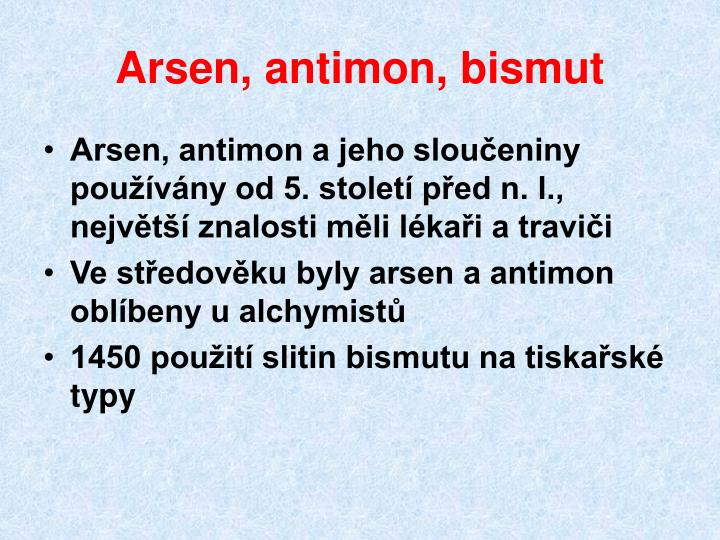 Arsen, antimon, bismut