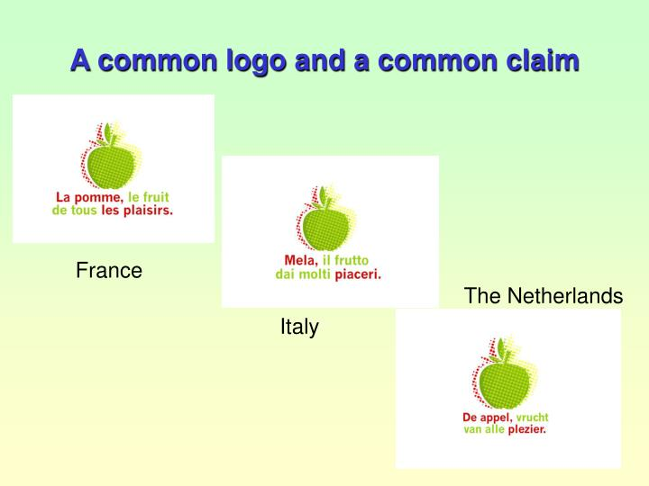 A common logo and a common claim