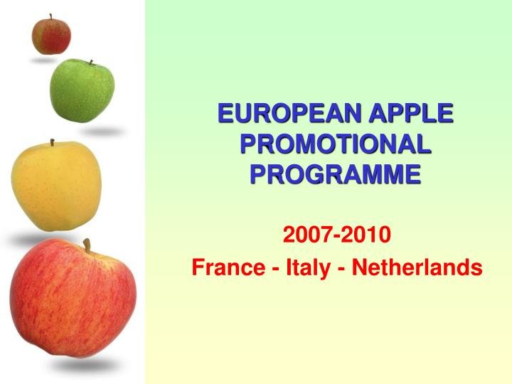 European apple promotional programme