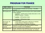 program for france