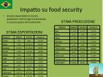 impatto su food security