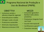 programa nacional de produ o e uso do biodiesel pnpb