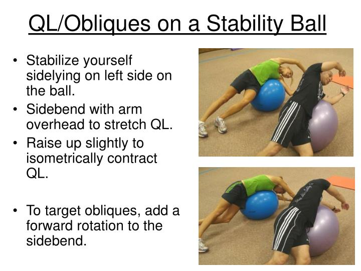 QL/Obliques on a Stability Ball