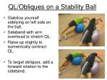 ql obliques on a stability ball