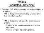 what is facilitated stretching