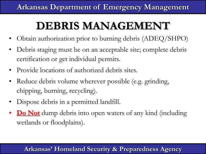 Arkansas Department of Emergency Management