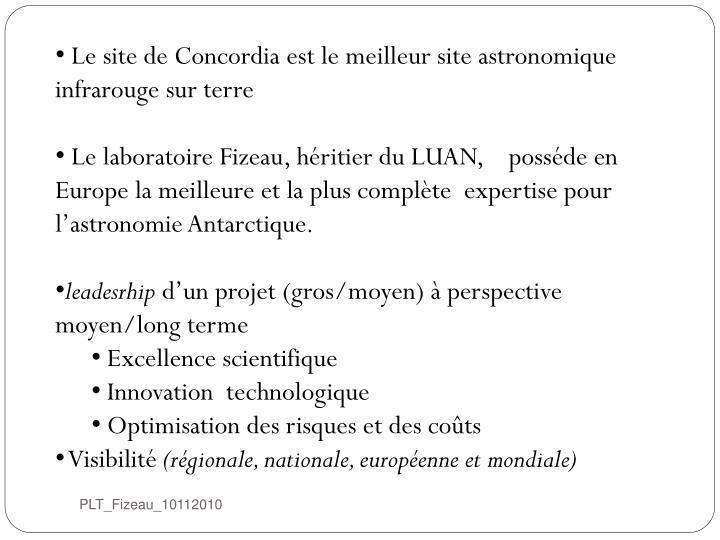 Le site de Concordia est le meilleur site astronomique  infrarouge sur terre