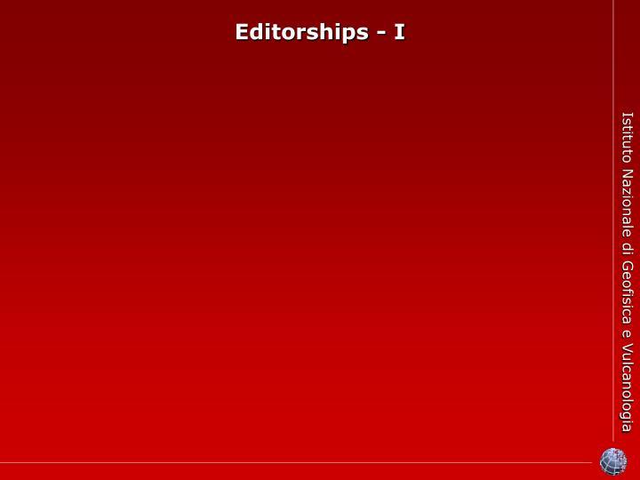 Editorships - I