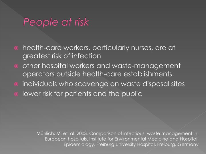 People at risk