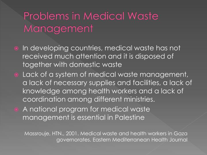 Problems in Medical Waste Management