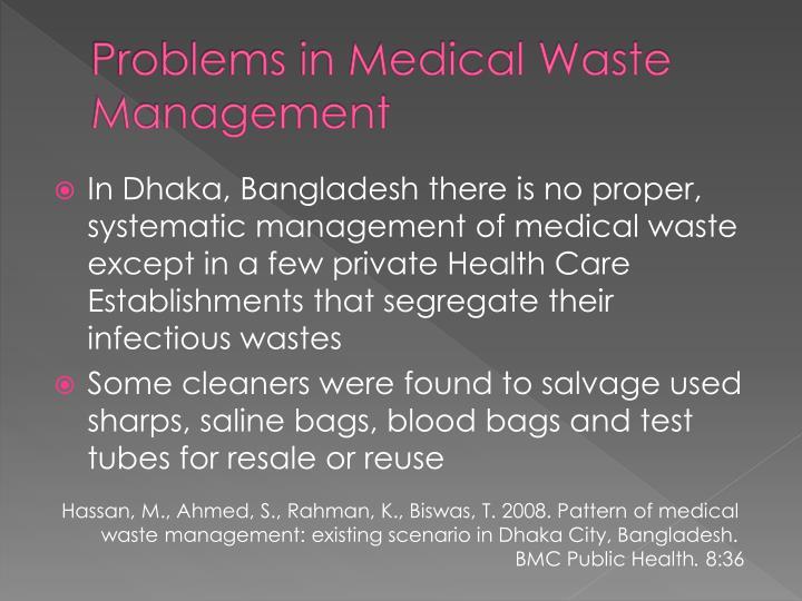 Problems in Medical Waste Management