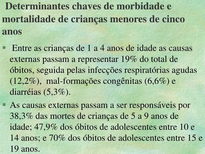 Determinantes chaves de morbidade e mortalidade de crianças menores de cinco anos
