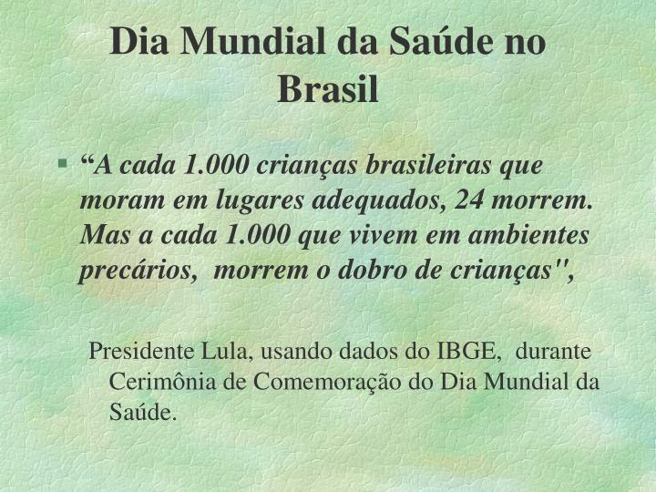 Dia Mundial da Saúde no Brasil