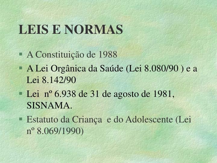 LEIS E NORMAS