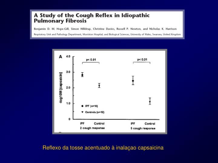 Reflexo da tosse acentuado à inalaçao capsaicina