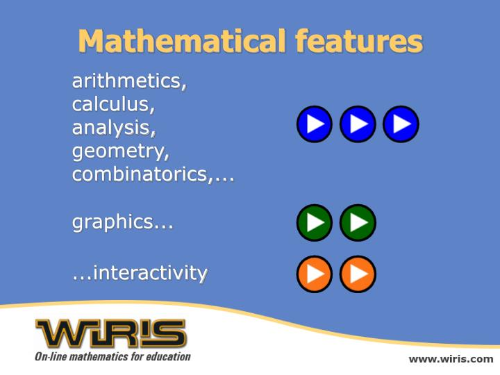 Mathematical features