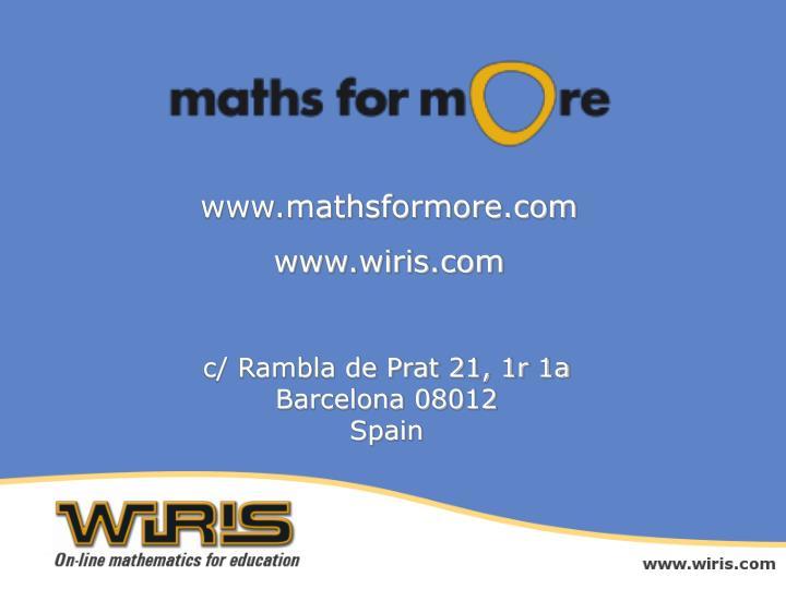 www.mathsformore.com