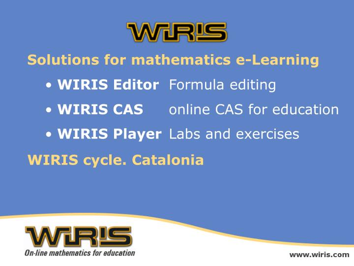Solutions for mathematics e-Learning