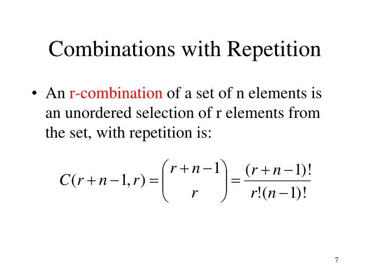Combinations with Repetition