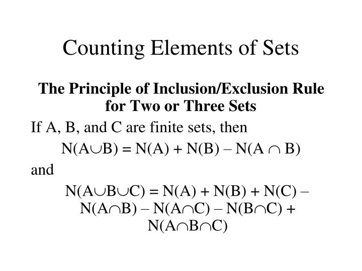 Counting Elements of Sets