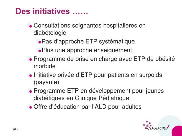 Consultations soignantes hospitalières en diabétologie