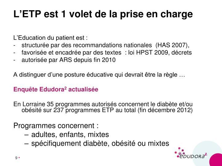 L'Education du patient est :