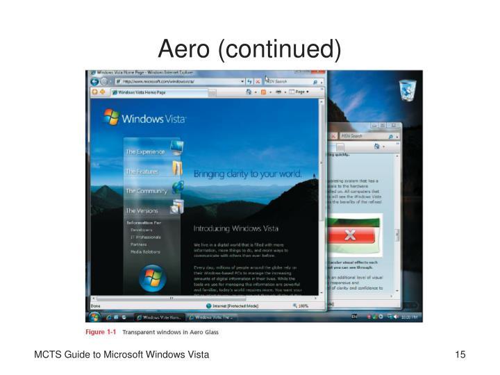 Aero (continued)