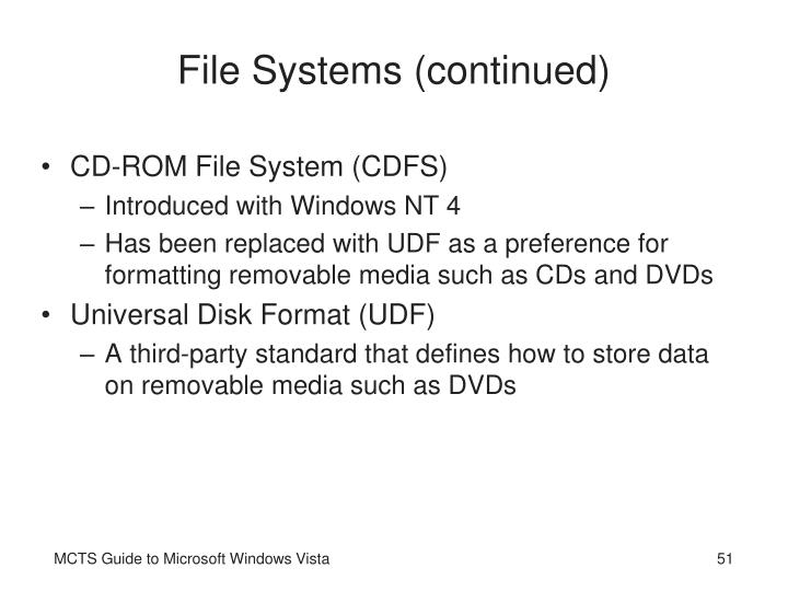 File Systems (continued)