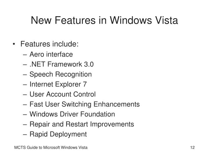 New Features in Windows Vista