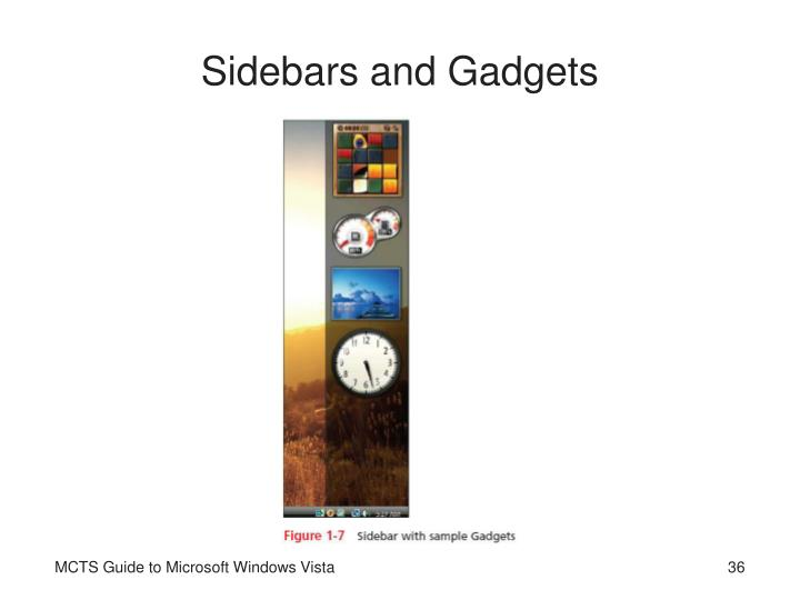 Sidebars and Gadgets