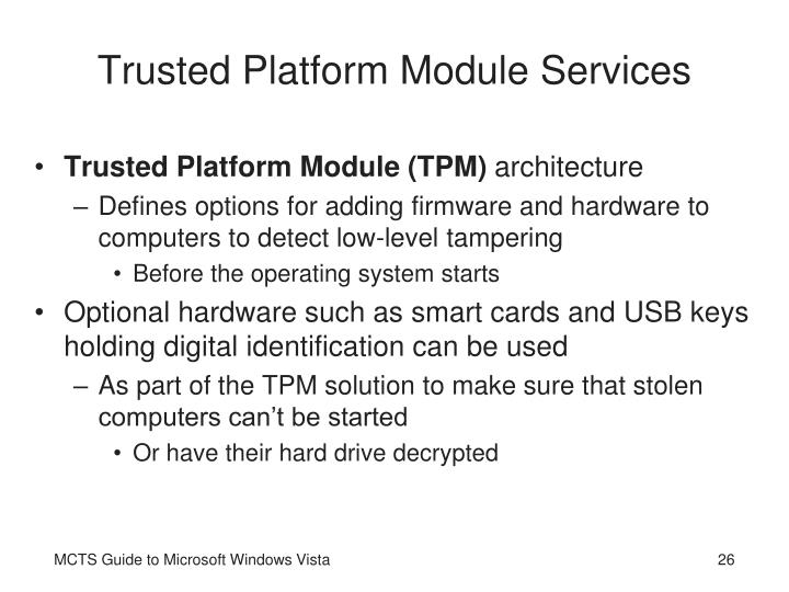 Trusted Platform Module Services