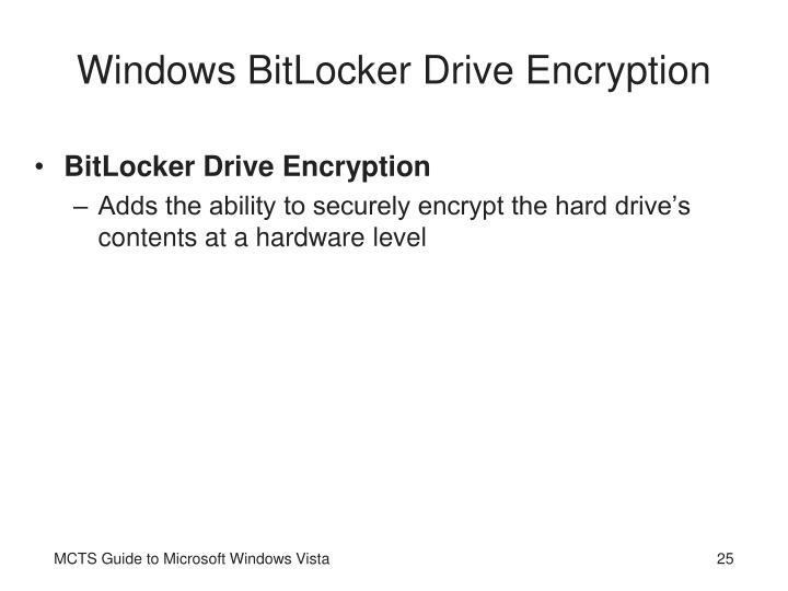 Windows BitLocker Drive Encryption