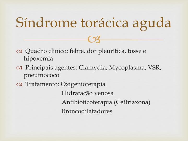 Síndrome torácica aguda