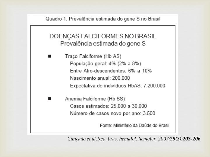 Cançado et al.Rev. bras. hematol. hemoter. 2007;