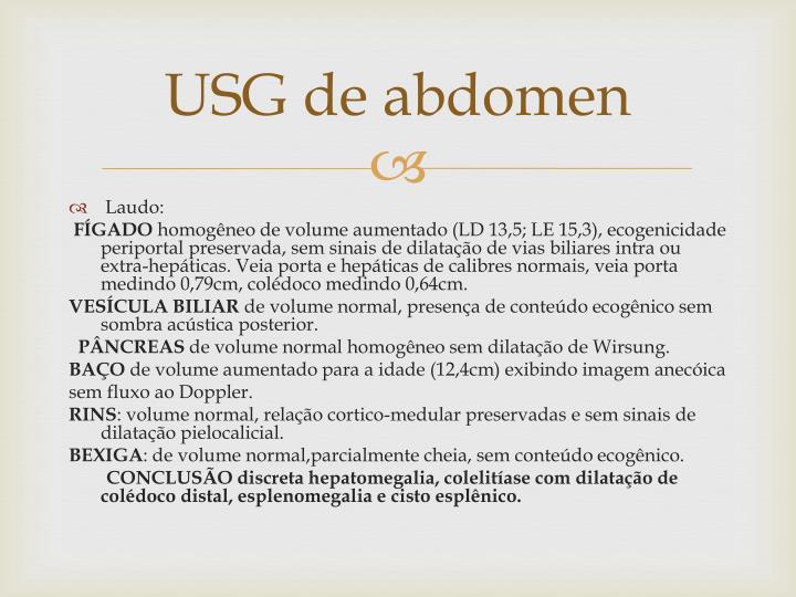 USG de abdomen