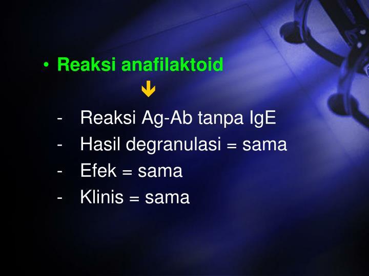 Reaksi anafilaktoid