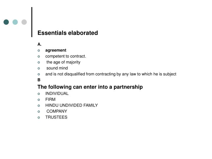 Essentials elaborated
