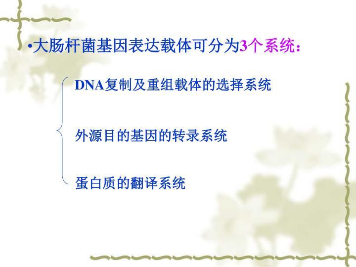 大肠杆菌基因表达载体可分为